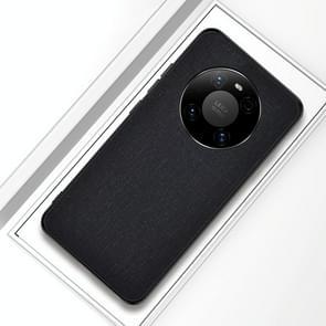 Voor Huawei Mate 40 Schokbestendige Doek Texture PC + TPU beschermhoes(zwart)