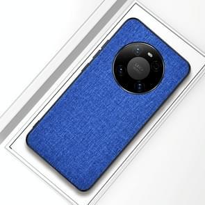 Voor Huawei Mate 40 Pro Schokbestendige doektextuur PC + TPU-beschermhoes (stijl blauw)