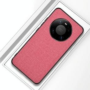 Voor Huawei Mate 40 Pro Schokbestendige doektextuur PC + TPU beschermhoes (modern roze)