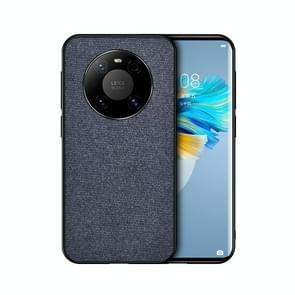 Voor Huawei Mate 40 Schokbestendige Splicing PU + Cloth Protective Case (Denim Blue)