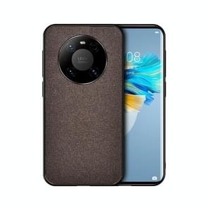 Voor Huawei Mate 40 Schokbestendige Splicing PU + Doek beschermhoes (Mercerized Brown)