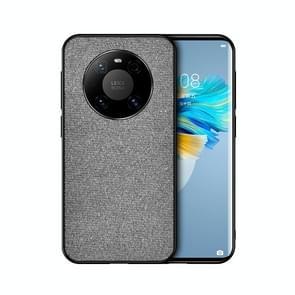 Voor Huawei Mate 40 Pro Schokbestendige Splicing PU + Cloth Protective Case (Klassiek Grijs)