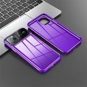 Voor iPhone 11 JOYROOM Zhizhen Series PC + gehard glas beschermhoes (paars)