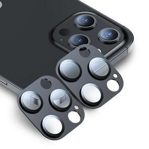 2 PCS ESR 9H Premium Clear Full Cover Tempered Glass Lens Camera Protector Voor iPhone 12 Pro Max(Zwart)