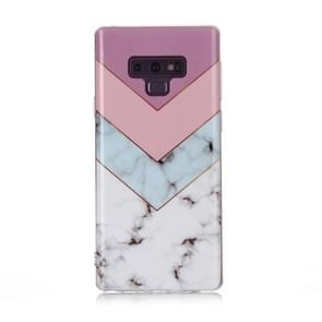 For Galaxy Note 9 Coloured Drawing Pattern IMD Workmanship Soft TPU Protective Case(Tricolor)