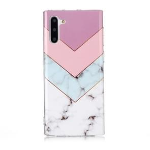 For Galaxy Note 10 Coloured Drawing Pattern IMD Workmanship Soft TPU Protective Case(Tricolor)