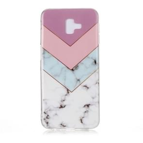 For Galaxy J6+ Coloured Drawing Pattern IMD Workmanship Soft TPU Protective Case(Tricolor)