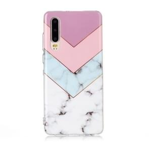 For Huawei P30 Coloured Drawing Pattern IMD Workmanship Soft TPU Protective Case(Tricolor)