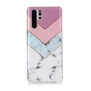 For Huawei P30 Pro Coloured Drawing Pattern IMD Workmanship Soft TPU Protective Case(Tricolor)