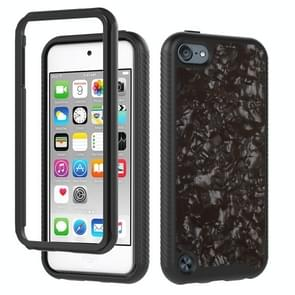 3 in 1 card PC + TPU Shockproof Beschermhoes voor iPod touch 5 / 6 / 7 (Black Shell Patroon)