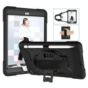 Contrast kleur siliconen + PC Combinatie case met houder voor iPad mini 3 (Zwart)