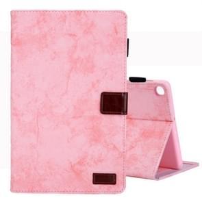 Voor Galaxy tab A 10 1 (2019) Business stijl horizontale Flip lederen draagtas  met houder & kaartsleuf & fotolijstjes & slaap/Wake-up functie (roze)