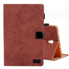Voor Galaxy tab A 10 5/T590 Business Style horizontale Flip lederen draagtas  met houder & kaartsleuf & fotolijstjes & slaap/Wake-up functie (bruin)