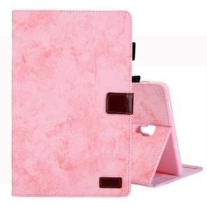 Voor Galaxy tab A 10 5/T590 Business Style horizontale Flip lederen draagtas  met houder & kaartsleuf & fotolijstjes & slaap/Wake-up functie (roze)