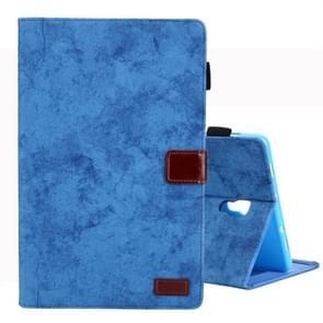 Voor Galaxy tab A 10 5/T590 Business Style horizontale Flip lederen draagtas  met houder & kaartsleuf & fotolijstjes & slaap/Wake-up functie (blauw)