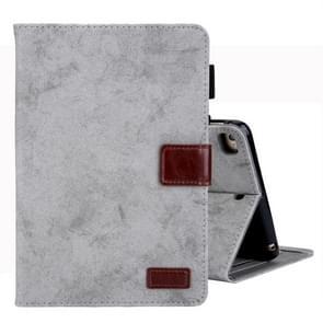 Voor iPad Mini 1/2/3/4 Business stijl horizontale Flip lederen draagtas  met houder & kaartsleuf & fotolijstjes & slaap/Wake-up functie (grijs)