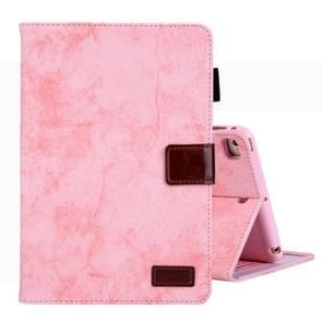 Voor iPad Mini 1/2/3/4 Business stijl horizontale Flip lederen draagtas  met houder & kaartsleuf & fotolijstjes & slaap/Wake-up functie (roze)