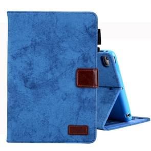 Voor iPad Mini 1/2/3/4 Business stijl horizontale Flip lederen draagtas  met houder & kaartsleuf & fotolijstjes & slaap/Wake-up functie (blauw)
