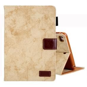 Voor iPad Mini 1/2/3/4 Business stijl horizontale Flip lederen draagtas  met houder & kaartsleuf & fotolijstjes & slaap/Wake-up functie (geel)