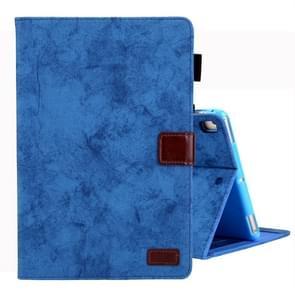 For iPad 10.2 inch Business Style Horizontal Flip Leather Case, with Holder & Card Slot & Photo Frame & Sleep / Wake-up Function(Blue)