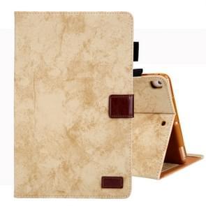 Voor iPad 10 2 inch Business stijl horizontale Flip lederen draagtas  met houder & kaartsleuf & fotolijstjes & slaap/Wake-up functie (geel)