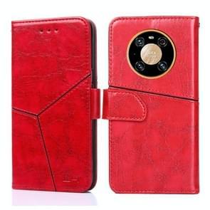 Voor Huawei Mate 40 Geometrische stiksels horizontale flip TPU + PU lederen hoes met houder & kaartslots & portemonnee(rood)