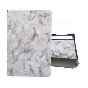 For Galaxy Tab S6 10.5 T860 Marble Texture Pattern Horizontal Flip Leather Case, with Three-folding Holder & Sleep / Wake-up Function(Black Grey)