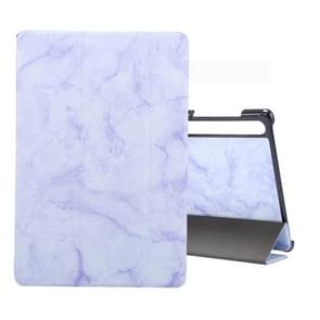 For Galaxy Tab S6 10.5 T860 Marble Texture Pattern Horizontal Flip Leather Case, with Three-folding Holder & Sleep / Wake-up Function(Purple)