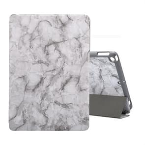 For iPad 10.2 inch Marble Texture Pattern Horizontal Flip Leather Case, with Three-folding Holder & Pen Slot & Sleep / Wake-up Function(Black Grey)