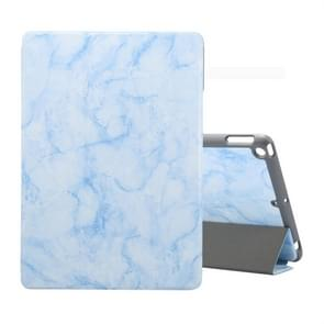 For iPad 10.2 inch Marble Texture Pattern Horizontal Flip Leather Case, with Three-folding Holder & Pen Slot & Sleep / Wake-up Function(Blue)