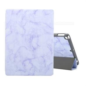 For iPad 10.2 inch Marble Texture Pattern Horizontal Flip Leather Case, with Three-folding Holder & Pen Slot & Sleep / Wake-up Function(Purple)