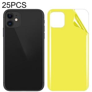 25 PCS Soft TPU full coverage screenprotector aan de achterkant voor iPhone 11