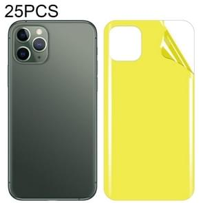 25 PCS Soft TPU full coverage screenprotector achter voor iPhone 11 Pro