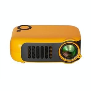 TRANSJEE A2000 320x240P 1000 ANSI Lumens Mini Home Theater HD Digital Projector  Plug Type: EU Plug(Yellow)