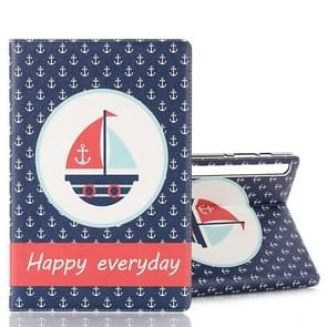For Galaxy Tab S6 T860 / T865 Horizontal Flip Leather Case with Card Slots & Holder & Wallet & Photo Frame(Sailboat)