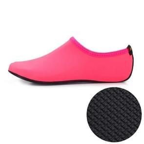 3mm anti-slip rubber reliëf textuur zool effen kleur duiken schoenen en sokken  één paar  grootte: XXXL (roze)