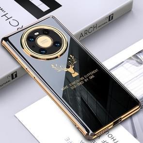 Voor Huawei Mate 40 Pro GKK PC + Solid Color Plating Protective Case(Zwart)