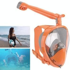 360 Degree Rotation Long Snorkel Anti-vertigo Anti-fog Large View Full Dry Diving Nask, Size: S / M(FST-18)