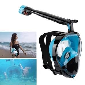 360 Degree Rotation Long Snorkel Anti-vertigo Anti-fog Large View Full Dry Diving Nask, Size: S / M(FST-09)
