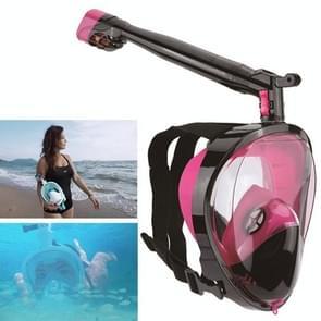 360 Degree Rotation Long Snorkel Anti-vertigo Anti-fog Large View Full Dry Diving Nask, Size: S / M(FST-10)