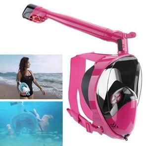 360 Degree Rotation Long Snorkel Anti-vertigo Anti-fog Large View Full Dry Diving Nask, Size: S / M(FST-13)