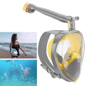 360 Degree Rotation Long Snorkel Anti-vertigo Anti-fog Large View Full Dry Diving Nask, Size: S / M(FST-16)