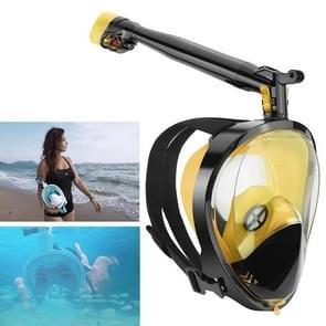 360 Degree Rotation Long Snorkel Anti-vertigo Anti-fog Large View Full Dry Diving Nask, Size: S / M(FST-06)