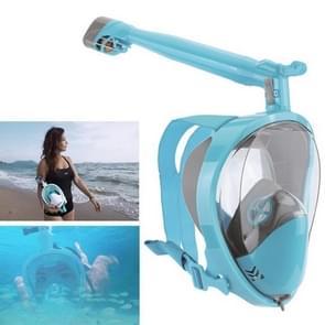360 Degree Rotation Long Snorkel Anti-vertigo Anti-fog Large View Full Dry Diving Nask, Size: S / M(FST-15)