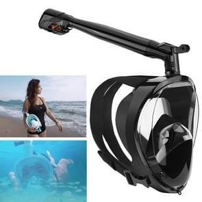 360 Degree Rotation Long Snorkel Anti-vertigo Anti-fog Large View Full Dry Diving Nask, Size: S / M(FST-11)