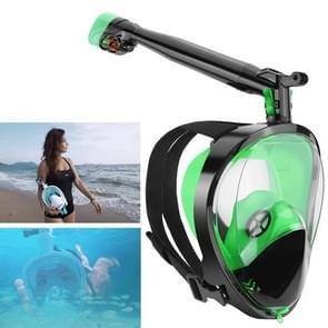 360 Degree Rotation Long Snorkel Anti-vertigo Anti-fog Large View Full Dry Diving Nask, Size: S / M(FST-08)