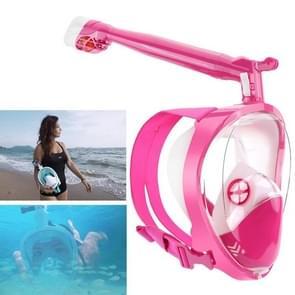 360 Degree Rotation Long Snorkel Anti-vertigo Anti-fog Large View Full Dry Diving Nask, Size: S / M(FST-12)