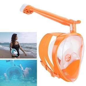 360 Degree Rotation Long Snorkel Anti-vertigo Anti-fog Large View Full Dry Diving Nask, Size: S / M(FST-19)