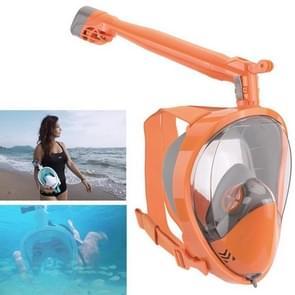 360 graden Rotatie Lange Snorkel Anti-vertigo Anti-mist Large View Full Dry Diving Nask  Size:L / XL(FST-18)