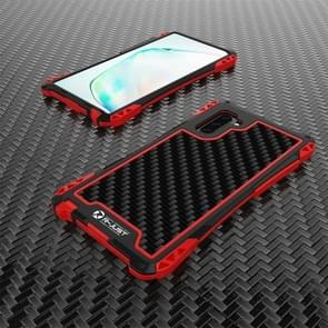For Galaxy Note 10 R-JUST AMIRA Shockproof Dustproof Metal Protective Case(Black Red)